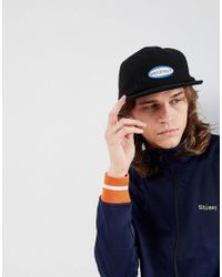 5ef8099e240 Stussy Oval Patch Camp Cap in Gray for Men - Lyst