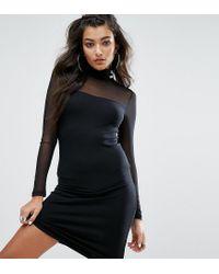 PUMA - Black Exclusive To Asos Bodycon Mesh Dress - Lyst