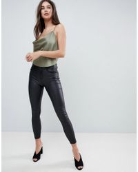 ASOS - Green Design Backless Cowl Neck Top - Lyst