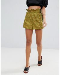 ASOS - Green Shorts In Ditsy Floral With Contrast Piping - Lyst