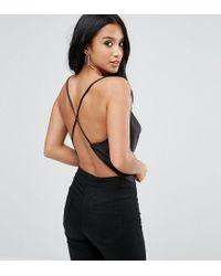 ASOS - Black Backless Cowl Neck Top - Lyst
