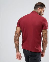 BoohooMAN - Red Regular Fit Shirt With Short Sleeves In Burgundy for Men - Lyst