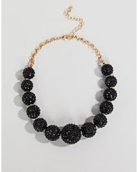 Coast - Black Ball Sparkle Necklace - Lyst