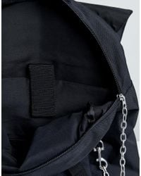 ASOS - Black Backpack With Chain Detail And Double Strap And Internal Laptop Pouch for Men - Lyst