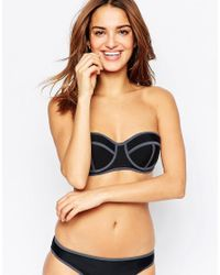 South Beach - Black Mix And Match Boost Bustier Bikini Top - Lyst