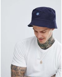 79bbe5621a930 Pretty Green Tonal Paisley Reversible Bucket Hat In Navy in Blue for ...