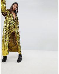 Jaded London - Metallic Maxi Kimono In Sequin Co-ord - Lyst
