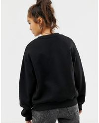 Cheap Monday - Black Reflective Logo Sweatshirt With Organic Cotton - Lyst