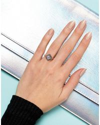 Rock N Rose - Metallic Rock N Rose Sterling Silver Diamond Moonstone Ring - Lyst