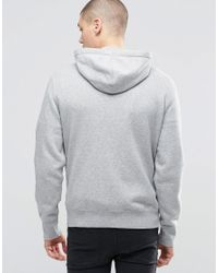 Converse | Gray Core Zip Through Hoodie In Grey 10002131-a01 for Men | Lyst