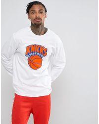 Mitchell & Ness - White Nba New York Knicks Long Sleeve Top for Men - Lyst