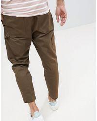 HUGO - Green Cargo Trousers In Khaki for Men - Lyst