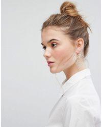 Weekday - Metallic Puzzle Hoop Earrings - Lyst