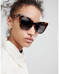 ASOS - Brown Asos Cat Eye Sunglasses - Lyst
