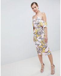 df701993 Lavish Alice. Women's Plunge Front Bandeau Printed Midi Dress