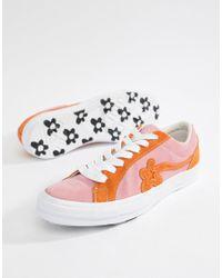 Converse X Golf Le Fleur Two Tone One Star Ox Sneakers In Pink ... 9dd54de1a