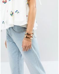 ALDO - Metallic Agrelan Cuff Bracelet - Lyst