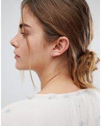 Orelia - Metallic Gold Plated Small Crystal Huggie Hoop Earrings - Lyst