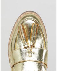 ASOS - Metallic Mogul Leather Loafers - Lyst