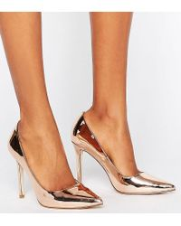 ASOS - Metallic Asos Peru Pointed High Heels - Lyst