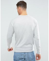 SELECTED - Gray Sweatshirt With Drop Shoulder Detail for Men - Lyst