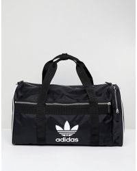 1e93bd8a4d adidas Originals Originals Travel Bag With Trefoil Logo in Black - Lyst