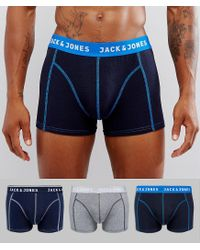 Jack & Jones - Blue Trunks 3 Pack for Men - Lyst
