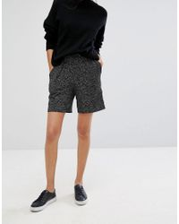Pieces - Black Sophie Jersey Marl Shorts - Lyst