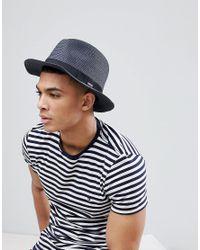 Barts - Blue Aveloz Summer Trilby Hat for Men - Lyst