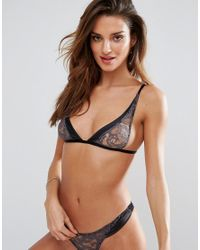 Coco De Mer - Black Fifty Shades Darker By Escala Triangle Bra - Lyst