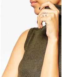 V | Metallic Jewellery Simplicity Spine Ring - Siler | Lyst