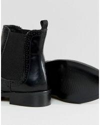 Dune - Black Quentin Brogue Chelsea Boot - Lyst