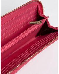 Carvela Kurt Geiger - Pink Alis Zip Around Purse - Lyst