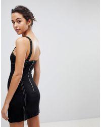Bec & Bridge - Black Cup Detail Mini Dress - Lyst