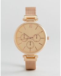 New Look - Pink Mesh Dial Watch - Lyst