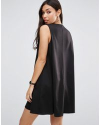 ASOS - Black Ponte Swing Dress - Lyst