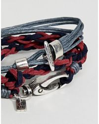 Icon Brand - Blue Cord Bracelet In 2 Pack for Men - Lyst