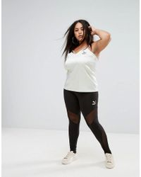 PUMA - Green Exclusive To Asos Plus Strappy Satin Tank Top - Lyst