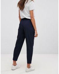 ASOS - Blue Mix & Match Highwaist Cigarette Trousers - Lyst