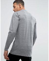 D-Struct - Black Paneled Long Line Long Sleeve Top for Men - Lyst