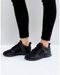 lyst adidas originali originali eqt appoggio avanzata delle scarpe da ginnastica in nero