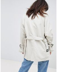 Vero Moda - Natural Trench Jacket With Shoulder Detail - Lyst