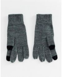 French Connection - Gray Gants en maille ctele pour cran tactile for Men - Lyst