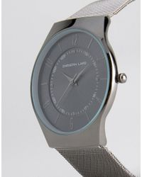 Christin Lars - Gunmetal Watch With Round Black Dial for Men - Lyst