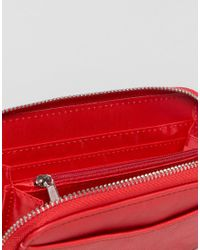 French Connection - Red Zip Around Purse - Lyst