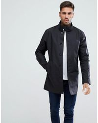 9e649c90f394 Fred Perry Bonded Mac In Black in Black for Men - Lyst