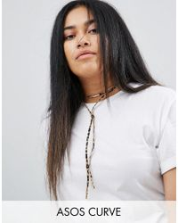 ASOS | Multicolor Animal Print Bolo Choker Necklace | Lyst