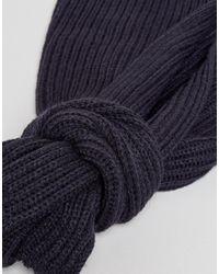 Jack & Jones - Blue Scarf In Mixed Yarn Detail for Men - Lyst