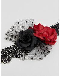 ASOS - Multicolor Halloween Flower Choker Necklace - Lyst