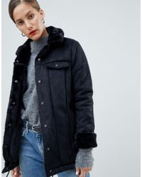 83c52079cddd Lyst - Native Youth Premium Sherpa Drawstring Jacket in Black